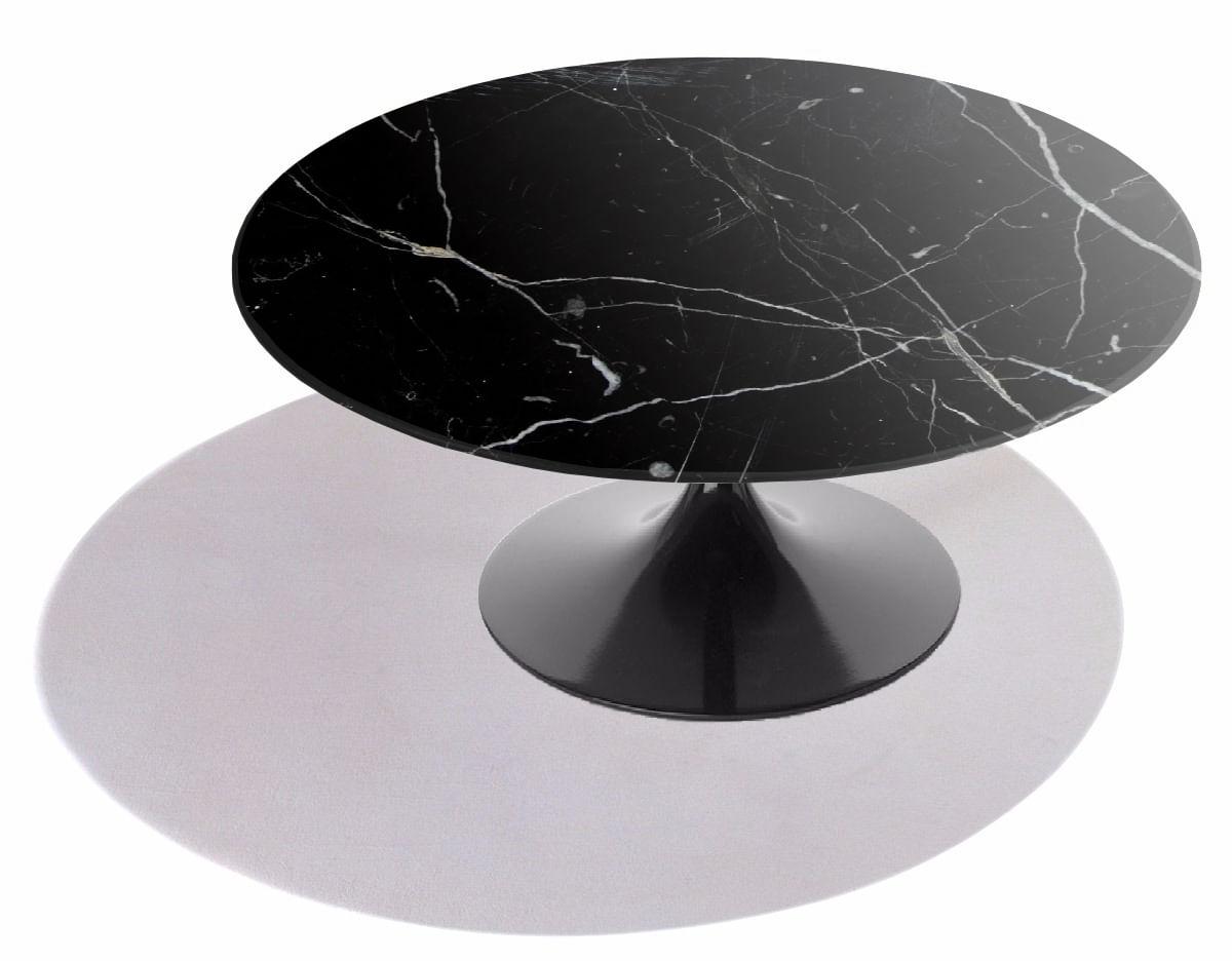 Mesa de Centro Saarinen Redonda 107 cm Mármore Nero