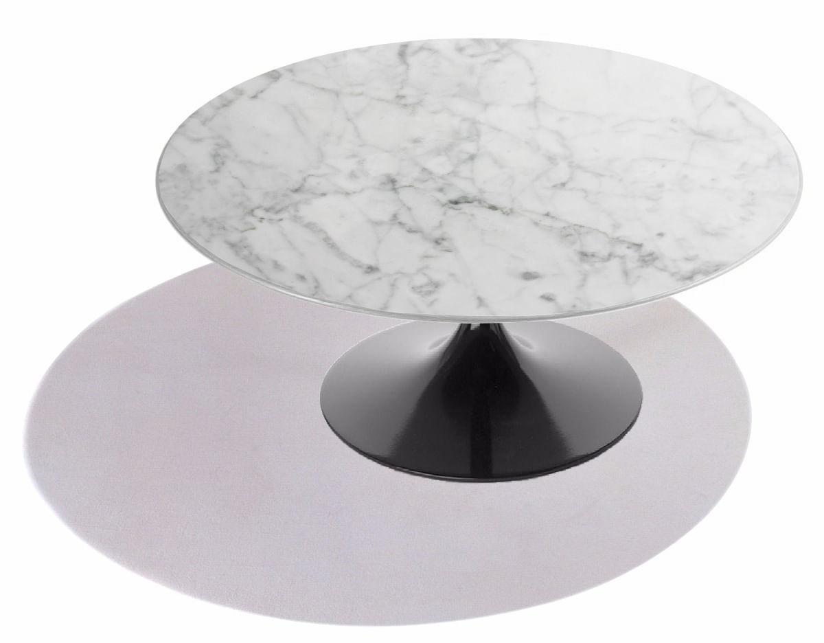 Mesa de Centro Saarinen Redonda 124 cm Mármore Carrara