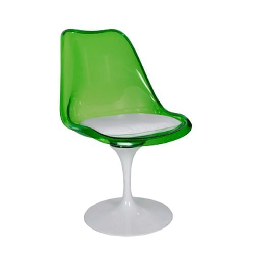 Cadeira Tulipa Saarinen Verde