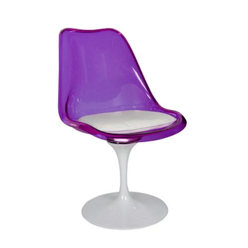 Cadeira Tulipa Saarinen Roxa