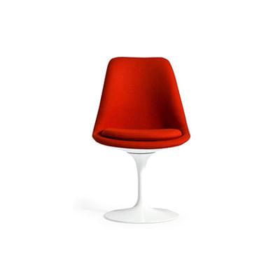 Cadeira Tulipa Saarinen Revestida Vermelha