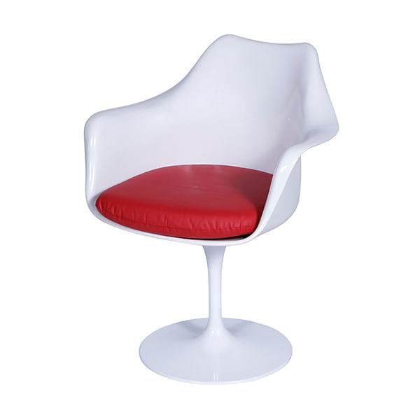 Cadeira Tulipa Saarinen Com Braço Branca