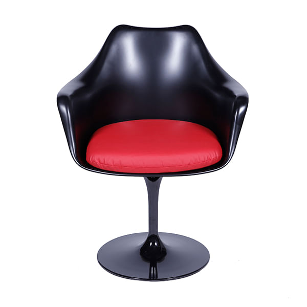 Cadeira Tulipa Saarinen Com Braço Preta
