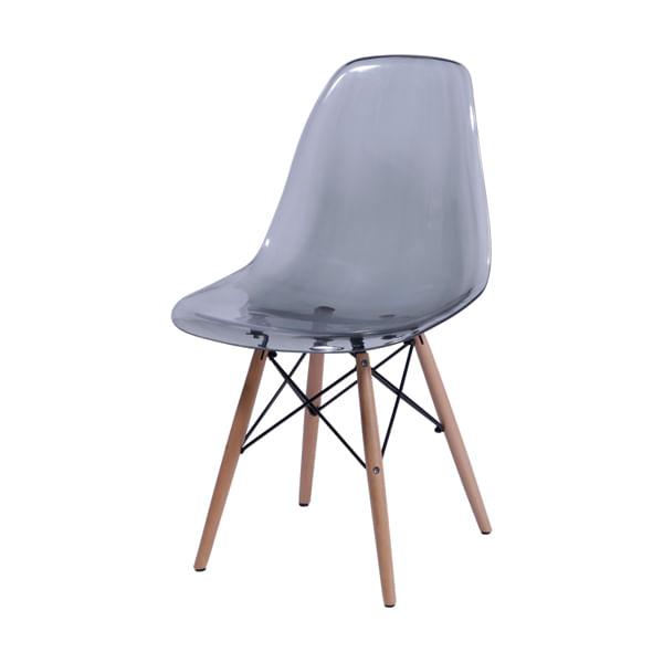 Cadeira DKR Charles e Ray Eames Policarbonato Base Wood