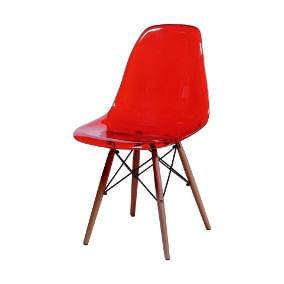 Cadeira DKR Charles e Ray Eames Acrílica Base Wood