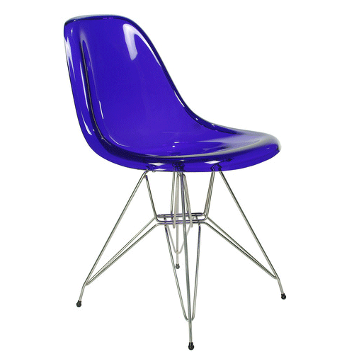 Cadeira DKR Charles e Ray Eames Acrílico Base Torre