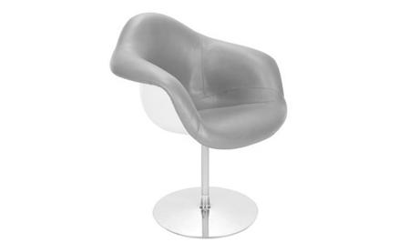 Cadeira DAR Charles e Ray Eames Revestida Base Torre Disco