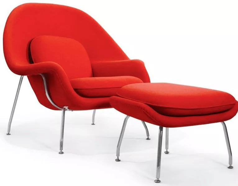 Poltrona Womb Chair com Puff