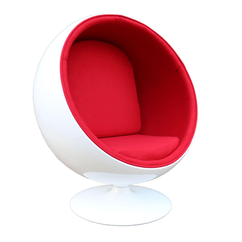 Poltrona Ball Chair Fiberglass Branca