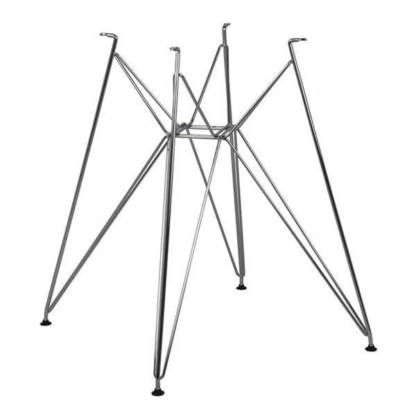 Mesa De Jantar Charles Eames 90 cm Redonda Base Cromada