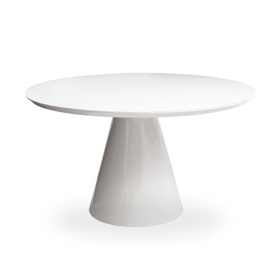 Mesa de Jantar Cone 100 cm + Vidro 6 mm