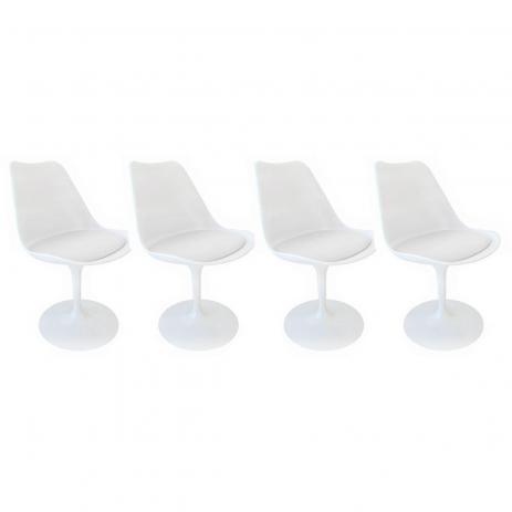 4 Cadeira Tulipa Saarinen Branca
