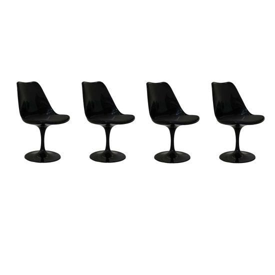 Pelegrin-Kit-4-Cadeiras-Design-Saarinen-Pelegrin-PEL-1855H-GiratC3B3ria-Preta-em-ABS-6413-621365-1
