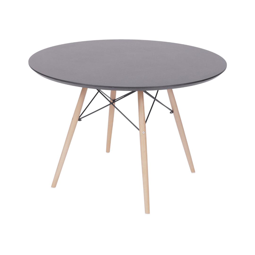 Mesa De Jantar  Charles Eames 110 cm Redonda Base Wood