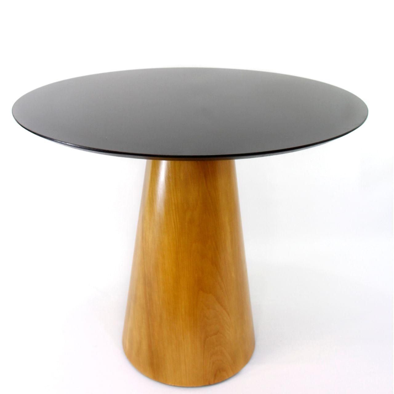Mesa de Jantar Cone 80 cm Base Madeira Marfim