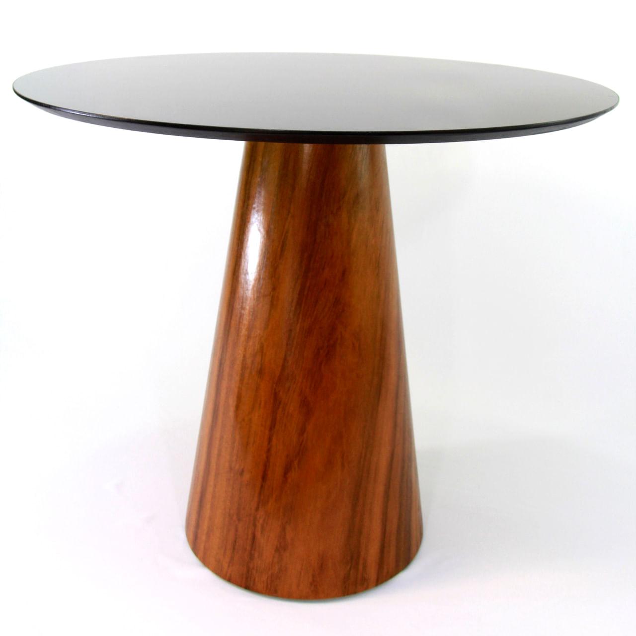 Mesa de Jantar Cone 90 cm Base Madeira Imbuia