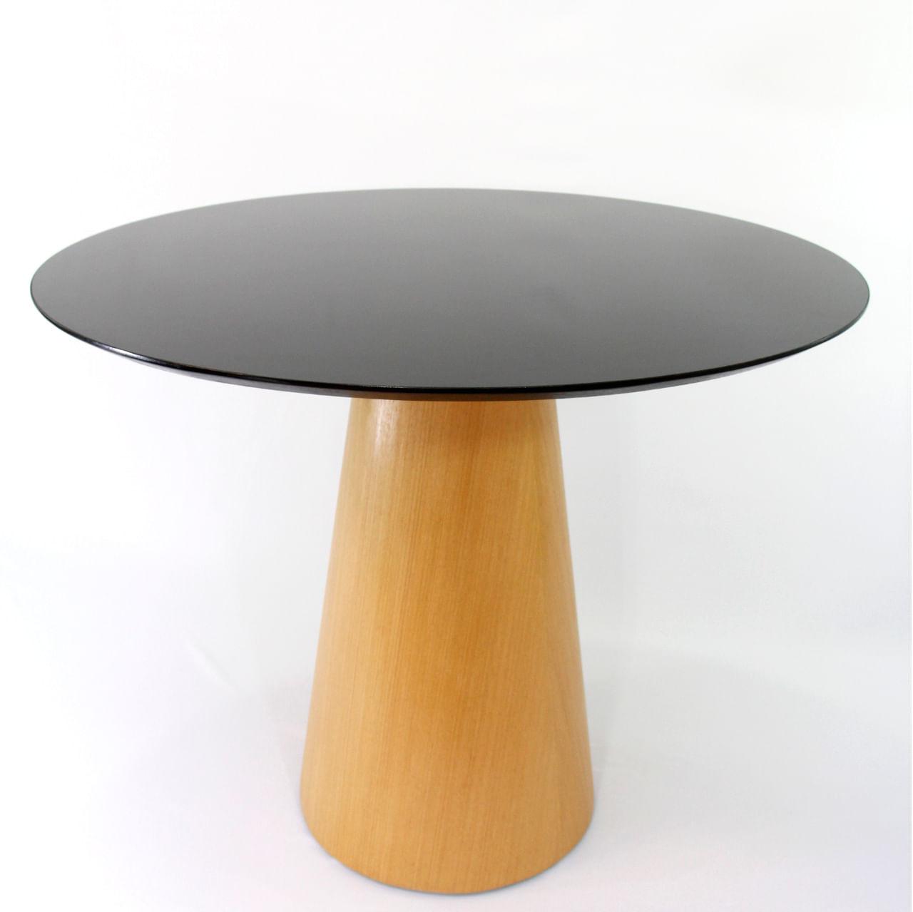 Mesa de Jantar Cone 110 cm Base Madeira Marfim Claro
