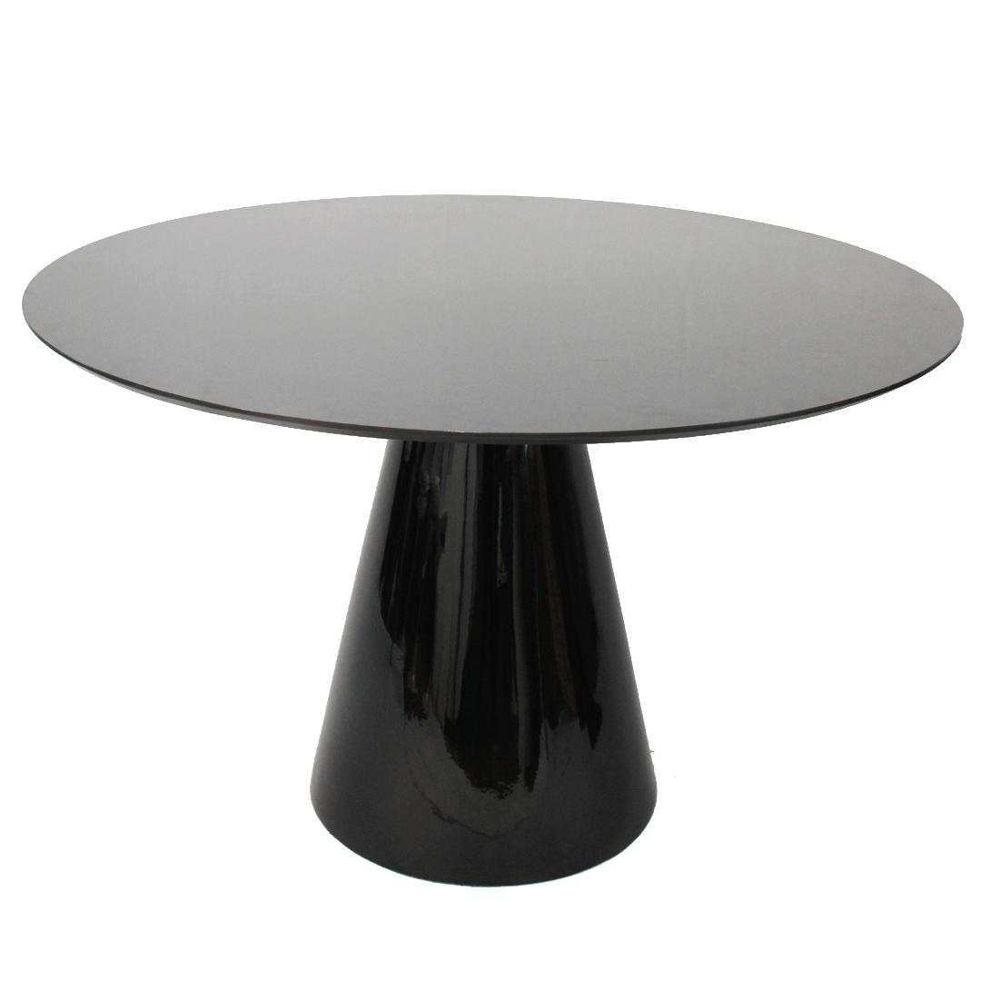 Mesa de Jantar Cone 150 cm Base Preta
