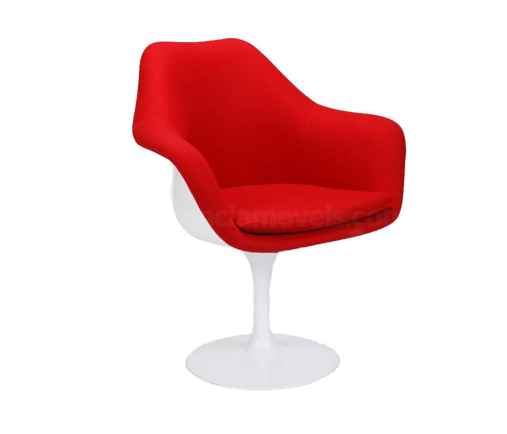 Cadeira Tulipa Saarinen Com Braço Revestida