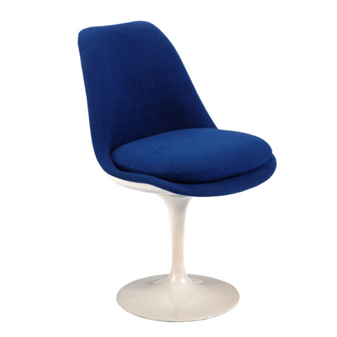 Cadeira Tulipa Saarinen Revestida Azul