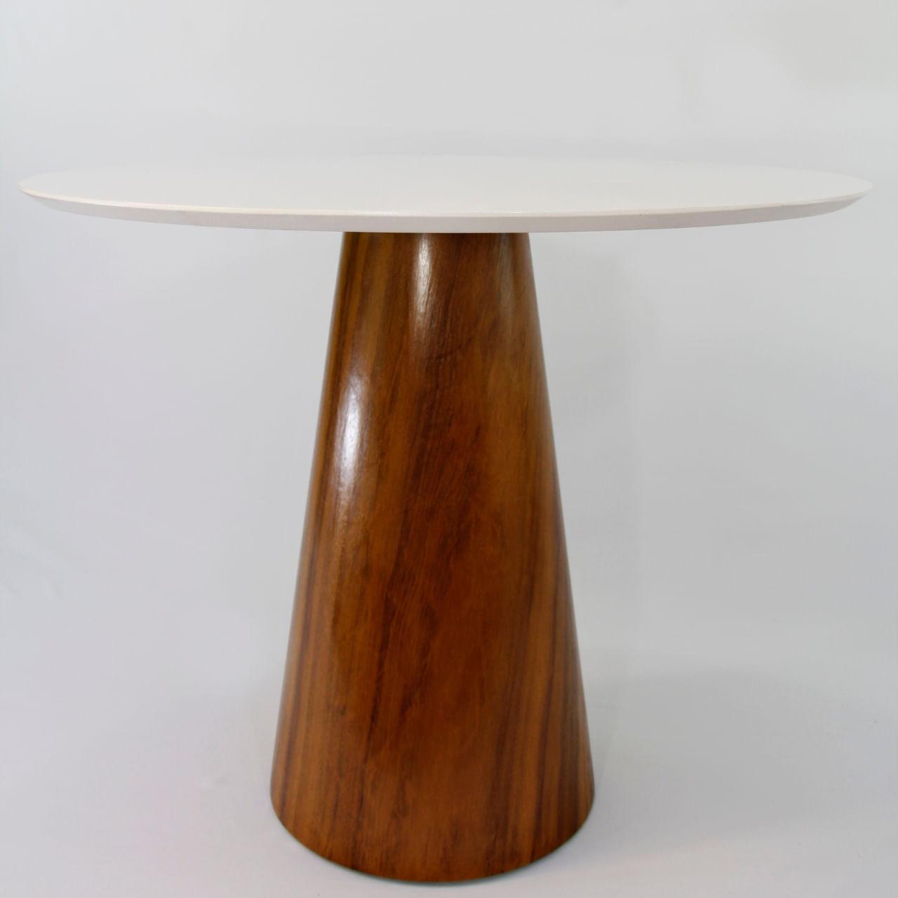 Mesa de Jantar Cone 110 cm Base Madeira Imbuia
