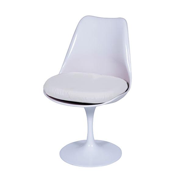 Almofada para Cadeira Tulipa Saarinen Sem Braço - Em Couro Ecológico