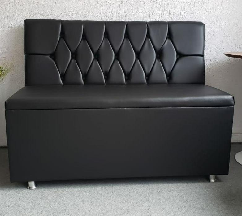 Sofa Booth Capitone Em Couro Ecológico
